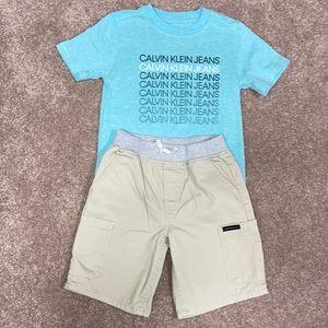Calvin Klein size 5 matching set tee and shorts